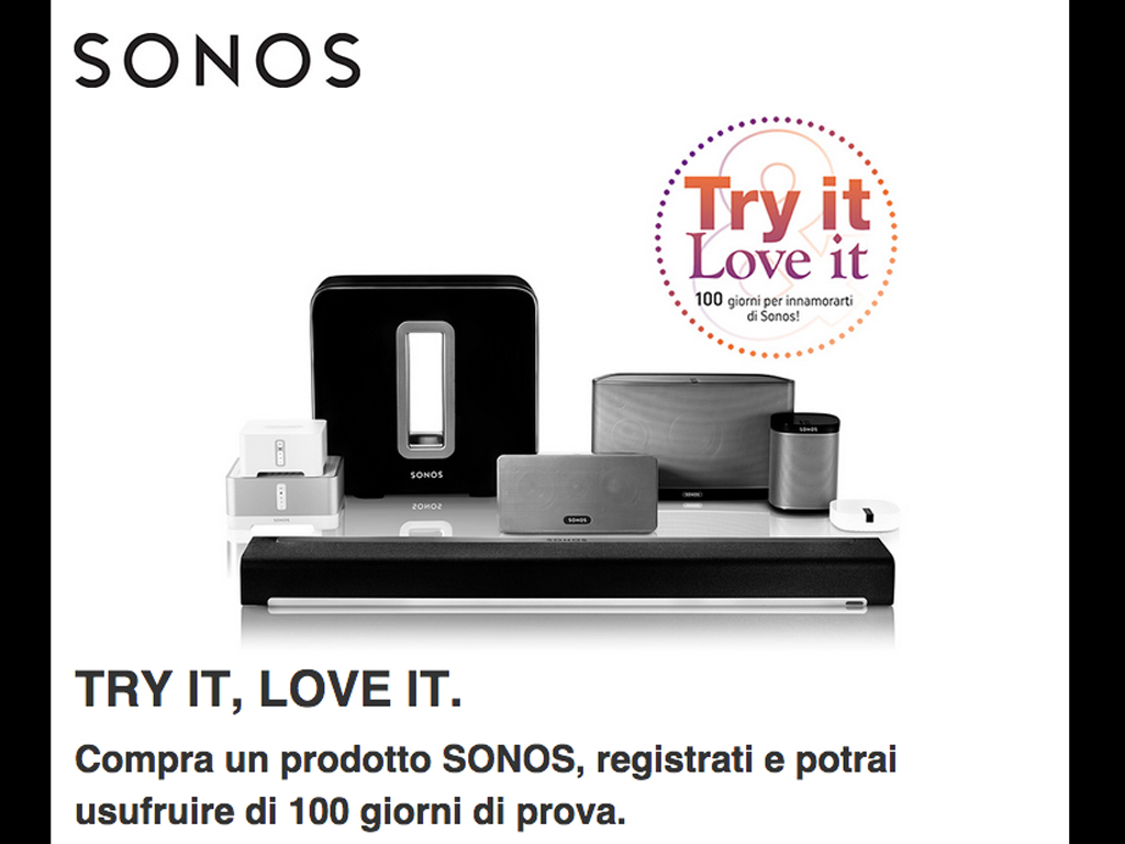 Try it, Love it - SONOS