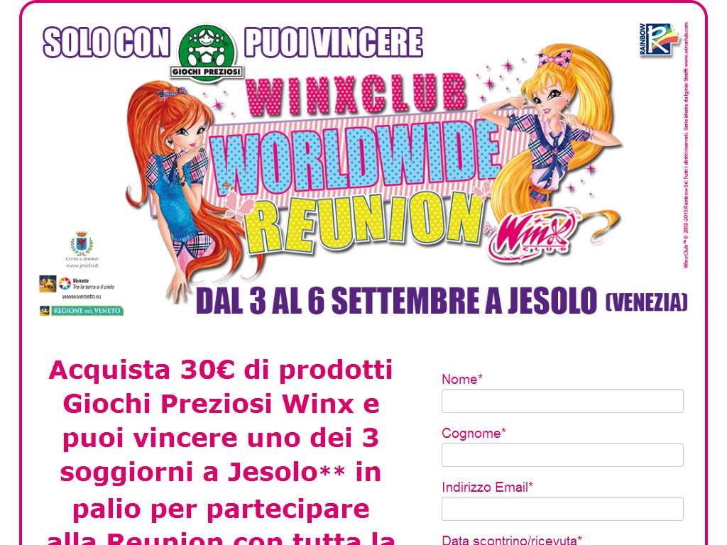 Concorso Vinci Raduno Winx