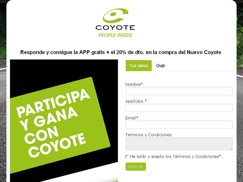 Participa y gana con Coyote